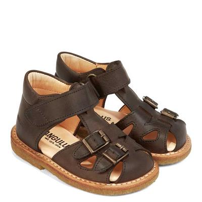 6b86c53e628 Angulus - Lukket sandal m/spænder - Mørkbrun