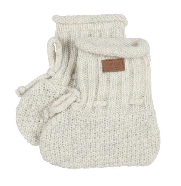 875b58e89a1 Melton - Baby- strikfutte - Uld - Offwhite