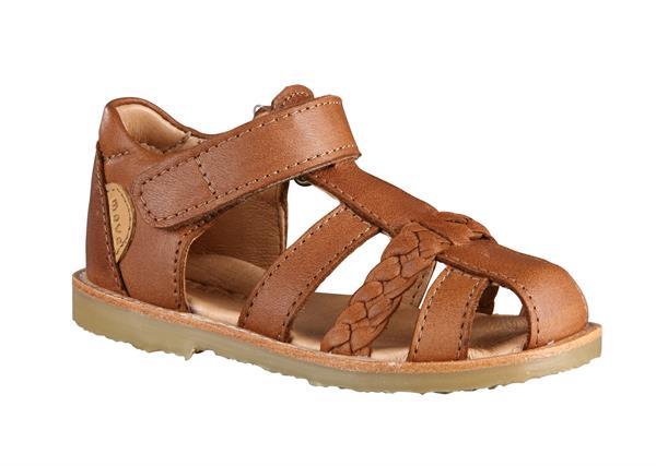 Move By Melton Lukket sandal Cognac