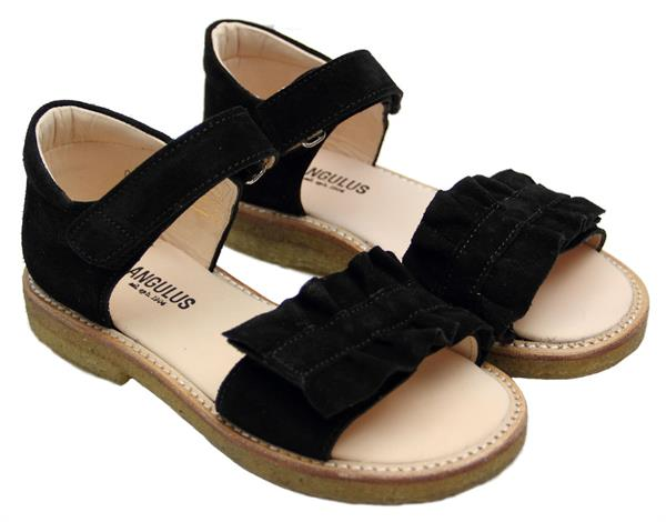 Angulus Åben sandal Sort mflæse Størrelse 28 34