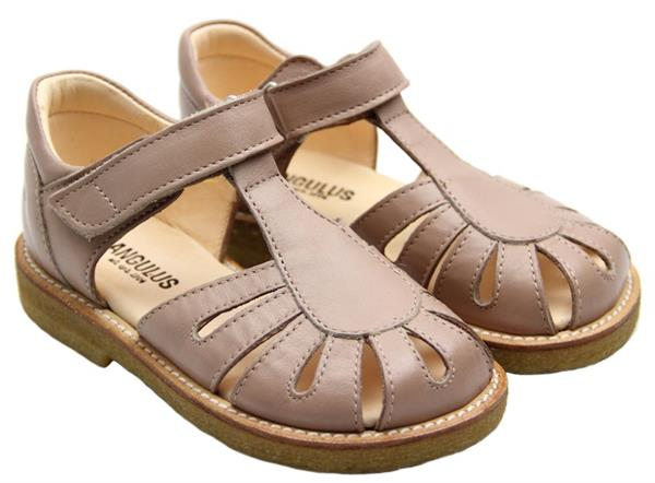c180f72b334 Angulus - Lukket sandal - Rosa m/dråber - Størrelse 24 - 30