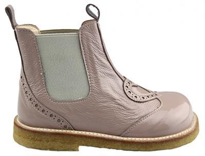 23d498f08dc Angulus - Chelsea støvlet - Rosa lak m/hjerte - str. 24-29