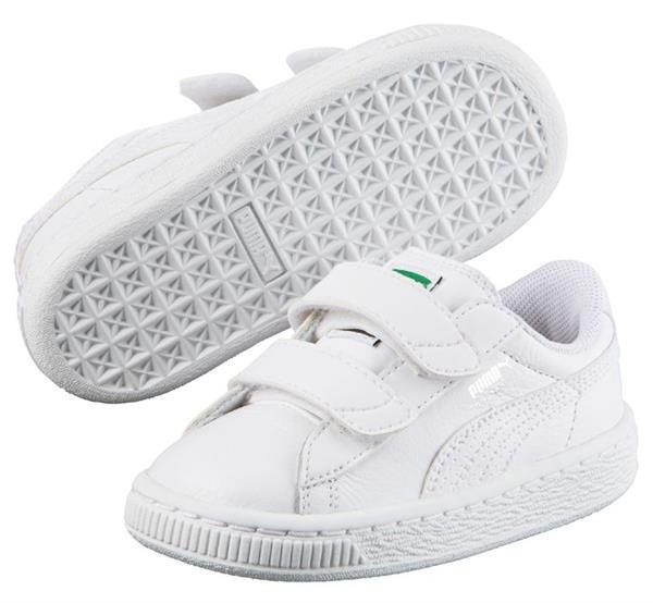 1b046ee7f40 PUMA - Basket Classic inf - hvid m/velcro